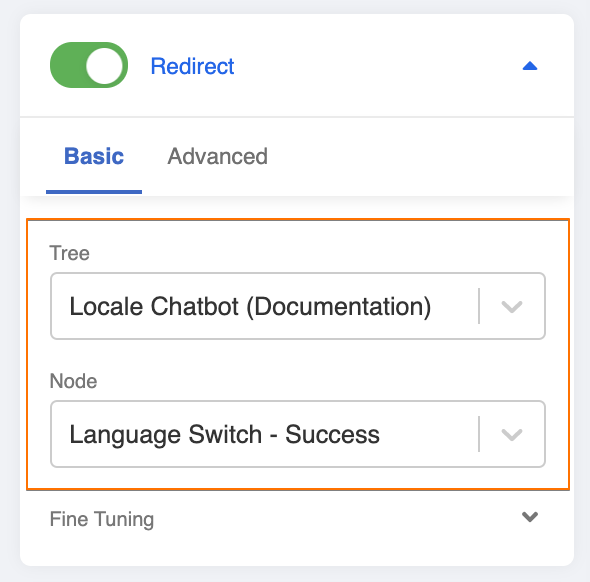 Redirect to Language Switch - Success
