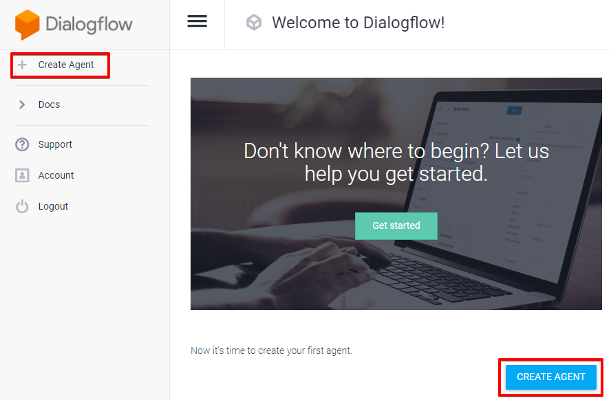 Dialogflow interface
