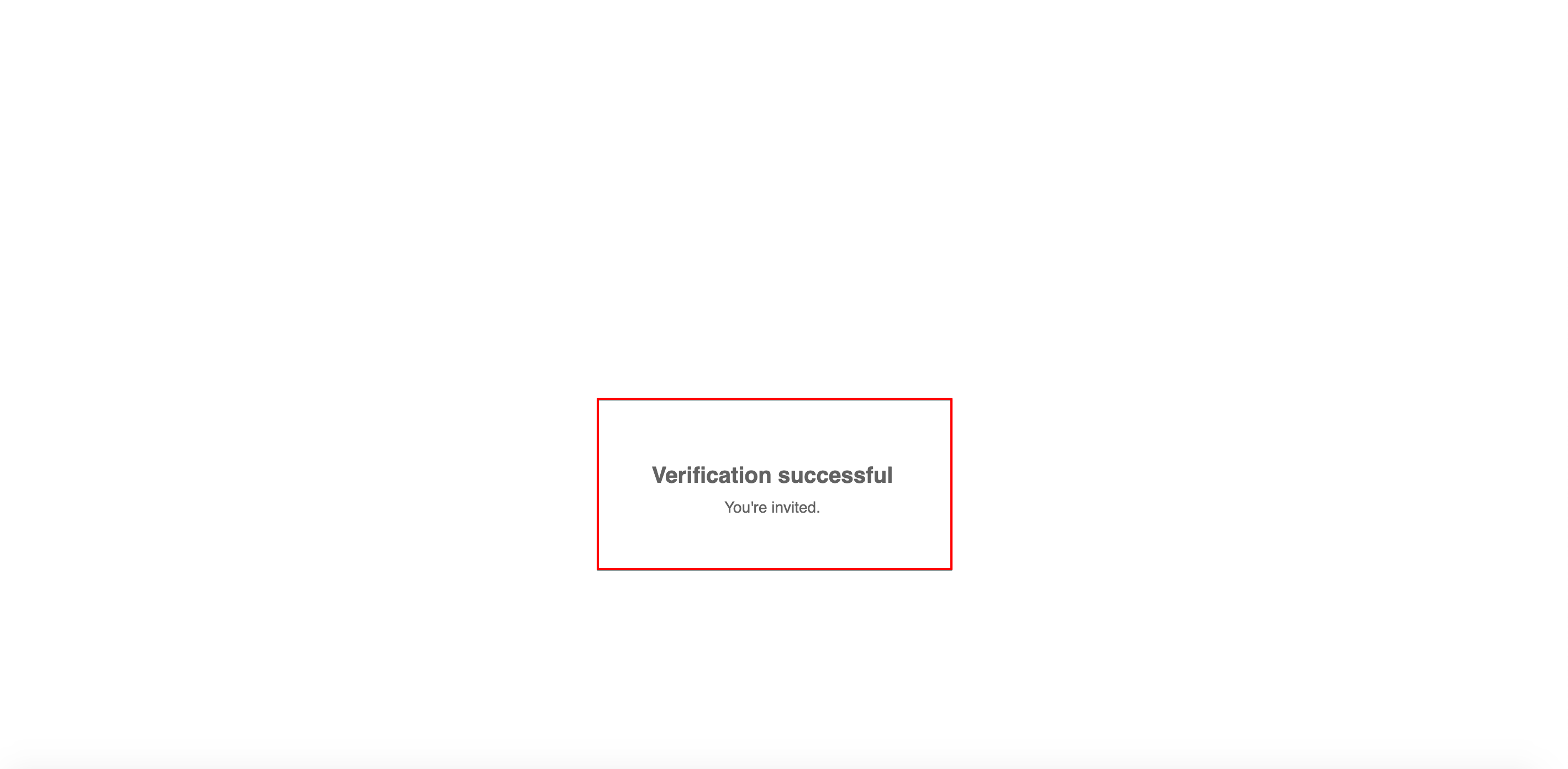 Verification sucessful